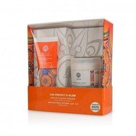 Garden Promo Pack Sunscreen 24h Protect & Glow, CC Matte Effect Face Cream Spf30 με Χρώμα, 50ml & Αντιρυτιδική Κρέμα για Πρόσωπο και Μάτια, 50ml