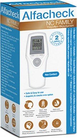 Alfacheck NC Family Infared Thermometer, Υπέρυθρο Θερμόμετρο Ανέπαφης Μέτρησης Θερμοκρασίας Σώματος & Αντικειμένων)