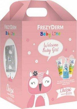 Frezyderm Πακέτο Προσφοράς Baby Line για Κορίτσι με Baby Shampoo Βρεφικό Σαμπουάν, 300ml & Baby Cream Κρέμα για την Αλλαγή Πάνας, 2x175ml & Δώρο Κουβέρτα Αγκαλιάς 75x110εκ