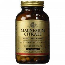 Solgar Magnesium Citrate 200mg Συμπλήρωμα Διατροφής με Κιτρικό Μαγνήσιο για την Καλή Λειτουργία των Μυών & του Νευρικού Συστήματος - Μειώνει τις Κράμπες, 60tabs