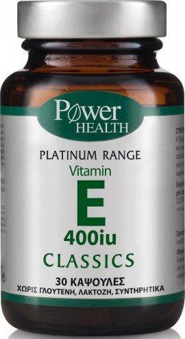 Power Health Classics Platinum Range Vit E 400 IU, Συμπλήρωμα με Βιταμίνη Ε, 30 Κάψουλες