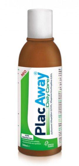 Omega Pharm Plac Away Daily Care Ήπιο Στοματικό Διάλυμα 500ml