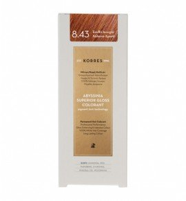 Korres Abyssinia Superior Gloss Colorant Μόνιμη Βαφή Μαλλιών 8.43 Ξανθό Ανοιχτό Χάλκινο - Χρυσό 50ml