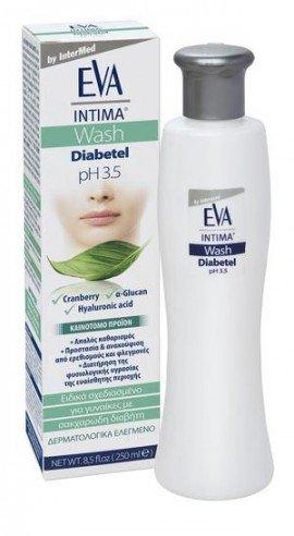 Intermed Eva Intima Wash Diabetel, Καθαρισμός Ευαίσθητης Περιοχής για Γυναίκες με Σακχαρώδη Διαβήτη, 250ml