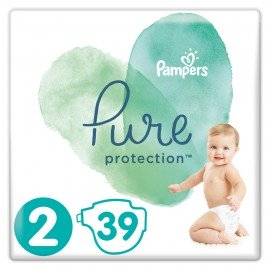 Pampers Pure Protection No.2 (4-8kg) Πάνες, 39 τεμάχια