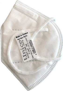UNICO Pro Λευκή Μάσκα Υψηλής Προστασίας FFP2, Πιστοποιημένες Ελληνικές Μάσκες CE 2198, 25τμχ