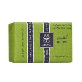 Apivita Natural Soap Σαπούνι για τις ξηρές επιδερμίδες Πρόσωπο & Σώμα με Ελιά , 125gr