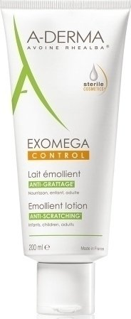 A-Derma Exomega Control Emollient Lotion Μαλακτικό Γαλάκτωμα 200ml