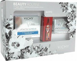 Vichy Πακέτο Προσφοράς Beauty Routine με Liftactiv Supreme Κρέμα Προσώπου Αντιρυτιδική & Συσφικτική για Ξηρή Επιδερμίδα 50ml & Δώρο Liftactiv Supreme Νύχτας, 15ml & Liftactiv Glyco-C Night Peel Αμπούλα Νύχτας, 2ml