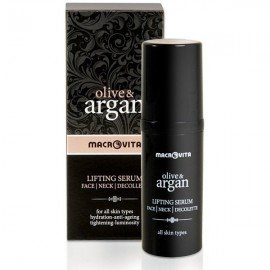 Macrovita Olive & Argan Lifting Serum 30ml (Ανορθωτικός Ορός για Πρόσωπο - Λαιμό - Ντεκολτέ)