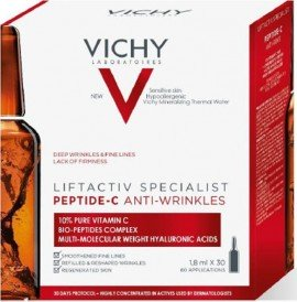 Vichy Liftactiv Peptide-C Αμπούλες για Γέμισμα Ρυτίδων & Λάμψη Προσώπου 30 Αμπούλες