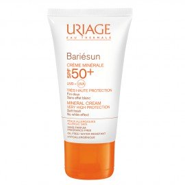 Uriage Bariesun Creme Minerale SPF 50+ Αντηλιακή Κρέμα Προσώπου Ιδανική για Ευαίσθητα Δέρματα, 100ml