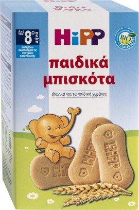 Hipp Παιδικά Βιολογικά Μπισκότα από τον 8ο Μήνα 30 τμχ, 150gr