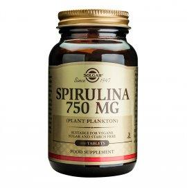 Solgar Spirulina 750mg Συμπλήρωμα Διατροφής Σπιρουλίνα Πηγή Πρωτεΐνης για Φυτοφάγους για Τόνωση του Οργανισμού & Έλεγχο του Βάρους, 80tabs