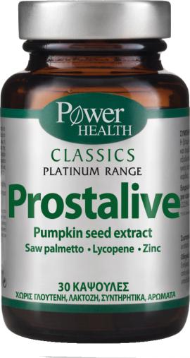 Power Health Classics Platinum PROSTALIVE, Συμπλήρωμα Διατροφής για Υγιή Προστάτη 30s CAPS