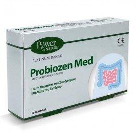 Power Health Platinum Range Probiozen Med Συμπλήρωμα Διατροφής για τη Θεραπεία του Ευερέθιστου Εντέρου 15Caps.