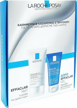 La Roche Posay Πακέτο Προσφοράς με Effaclar Mat για Ενυδατική Σμηγματορρυθμιστική Φροντίδα, 40ml & Effaclar Gel Καθαρισμού για Λιπαρή / Ευαίσθητη Επιδερμίδα, 50ml