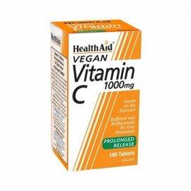 Health Aid Vitamin C 1000mg για την Ενίσχυση του Ανοσοποιητικού, 100 Ταμπλέτες