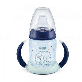 Nuk First Choice Rose & Blue Μπιμπερό Εκπαίδευσης με Ρύγχος Σιλικόνης 6m+ Μπλε, 150ml, 10.743.910