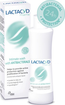 Lactacyd Pharma Antibacterial, Καθαριστικό Ευαίσθητης Περιοχής με Αντιβακτηριακή Δράση, 250ml