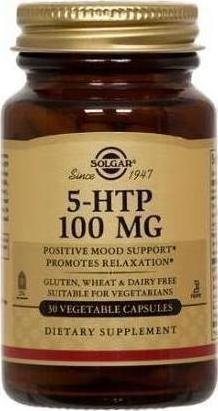 Solgar 5-HTP (Hydroxytryptophan) Complex 100Mg, Συμπλήρωμα με Υδροξυτρυπτοφάνη, 30 Φυτικές Κάψουλες