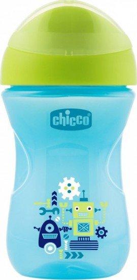 Chicco Κυπελλο Easy Cup 12m+ Blue Μαλακό Στόμιο Μπλε, 1τμχ