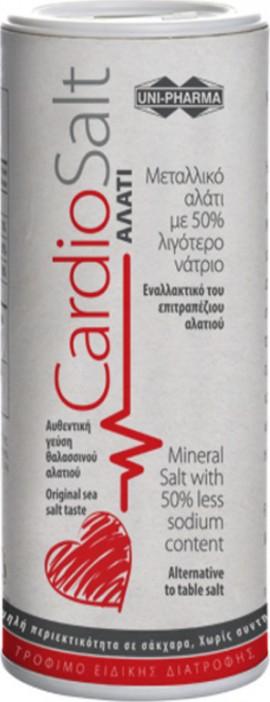 Unipharma CardioSalt Μεταλλικό Αλάτι με 50% λιγότερο Νάτριο, 250gr
