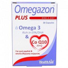 Health Aid Omegazon Plus Omega 3 & Co Q10 30mg 30Caps.