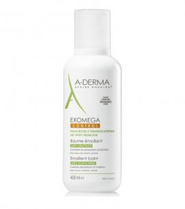 A-Derma Exomega Control Baume Emolliente Μαλακτικό Βάλσαμο για το Ατοπικό & πολύ Ξηρό Δέρμα, για Πρόσωπο & Σώμα, 400ml