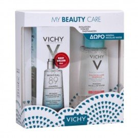 Vichy Promo Mineral 89 Ενυδατικό Booster Προσώπου 50ml & Δώρο Mineral Micellar Water for Sensitive Skin Μικκυλιακό Νερό Καθαρισμού για Ευαίσθητες Επιδερμίδες 100ml