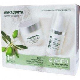 Macrovita Πακέτο Προσφοράς 24ωρη Υπερθρεπτική Κρέμα Προσώπου για Κανονικό έως Ξηρό Δέρμα 40ml & Δώρο Κρέμα Ματιών για όλους τους τύπους δέρματος 15ml