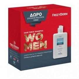 Frezyderm Promo Hair Force Shampoo Women, Σαμπουάν για Γυναίκες, για την Ενίσχυση της τριχοφυΐας, για Δυνατά & Υγιή μαλλιά, 200ml & Δώρο Επιπλέον 100ml