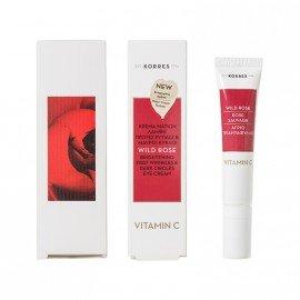 Korres Άγριο Τριαντάφυλλο Κρέμα Ματιών για Λάμψη Πρώτες Ρυτίδες & Μαύρους Κύκλους με Vitamin C 15ml
