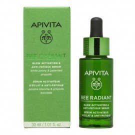 Apivita Bee Radiant Serum Peony, Αντιγηραντικός Ορός Προσώπου για Ενεργοποίηση Λάμψης & Ξεκούραστη Όψη, 30ml
