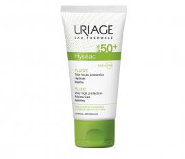 URIAGE Hyseac Fluide SPF50+ Λεπτόρρευστη Αντιηλιακή Κρέμα με Ματ Αποτέλεσμα για Λιπαρές/Μικτές Επιδερμίδες, 50ml