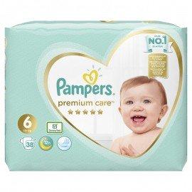 Pampers Premium Care Jumbo Pack Πάνες No6 (13+ kg), 38 τεμάχια