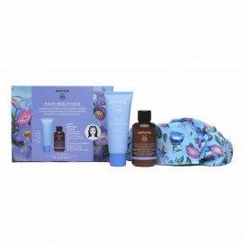 Apivita Πακέτο Προσφοράς Aqua Beelicius Cream Rich Texture 40ml & Δώρο Cleansing Foam Face & Eyes 75ml & Skincare Heandband  Απαλή Κρέμα Ενυδάτωσης Πλούσιας Υφής & Δώρο Αφρός Καθαρισμού για Πρόσωπο & Μάτια & Κορδέλα Μαλλιών