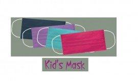 Μάσκα παιδική υφασμάτινη πολλαπλών χρήσεων, Μωβ