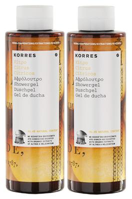 Korres Αφρόλουτρο Κίτρο 1+1 ΔΩΡΟ, 2x250ml