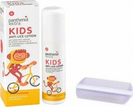 Panthenol Extra Kids Anti-Lice Lotion Παιδική Αντιφθειρική Λοσιόν 125ml & Χτενάκι
