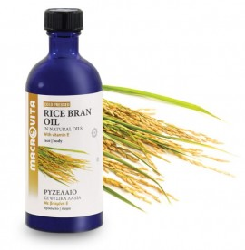 Macrovita Ρυζέλαιο Rice Bran Oil 100ml (Έλαιο Ρυζιού)