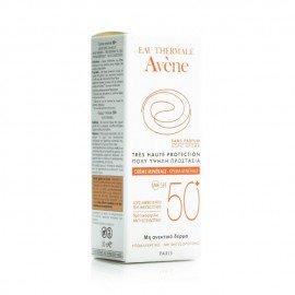 Avene Creme Minerale SPF50+ Αντιηλιακή Κρέμα Προσώπου για το μη Ανεκτικό & Ευαισθητο Δέρμα, 50ml