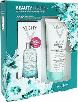 Vichy Πακέτο Προσφοράς Beauty Routine με Mineral 89 Booster Ενδυνάμωσης Προσώπου, 50ml & Δώρο Purete Thermale 3σε1 Γαλάκτωμα Καθαρισμού, 100ml