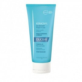 Ducray Keracnyl Gel Moussant, Καθαριστικό Προσώπου/Σώματος για Λιπαρό Δέρμα με Ατέλειες 200ml