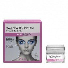 Vican Wise Beauty 24h Face & Eye Cream Ενυδατική και Συσφικτική Κρέμα Προσώπου 50ml