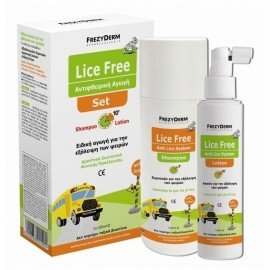 Frezyderm Lice Free Set Ολοκληρωμένη Αγωγή για Ψείρες Σαμπουάν & Λοσιόν, 2x125ml