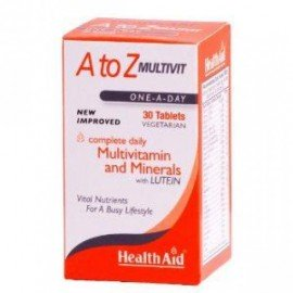Health Aid A to Z Multivit and Minerals with Lutein, Πολυβιταμίνες, 30 tabs
