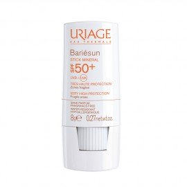 Uriage Bariesun Stick Mineral SPF50+ Αντιηλιακό Στικ για Εύθραυστες Περιοχές, 8gr