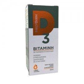 Frezyderm Vitamin D3 Συμπλήρωμα Διατροφής Βιταμίνης D3 σε Σταγόνες, 20ml