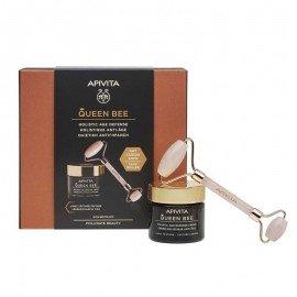 Apivita Queen Bee Πακέτο Προσφοράς HolisticAge Defense Day Cream Light Texture 50ml & Δώρο Face Roller 1 Τεμάχιο  Κρέμα Ημέρας Ολιστικής Αντιγήρανσης με Ελληνικό Βασιλικό Πολτό Ελαφριάς Υφής & Δώρο Premium Face Roller για Απαλό Μασάζ Προσώπου